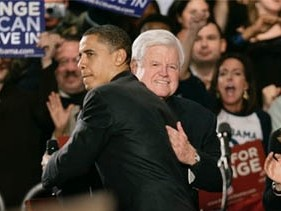 Teddy/Obama Hug