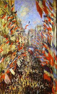Claude Monet, Rue Montorgueil, Paris, Festival of June 30, 1878. Oil on canvas, Musée d'Orsay, Paris, France.