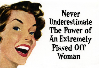 Pissed Off woman