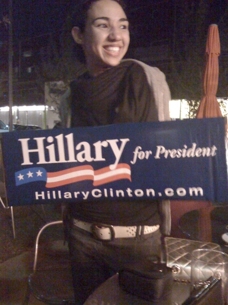Jesse, the Hillary Cover Girl, in Denver