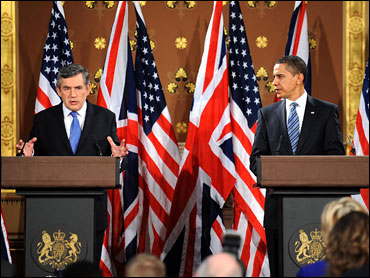 Brown and Obama meet the press