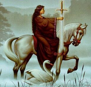 Morgan Le Fay with the Sword of the Druid Regalia