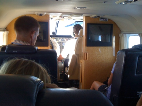 Inside the Pacific Wings Cessna