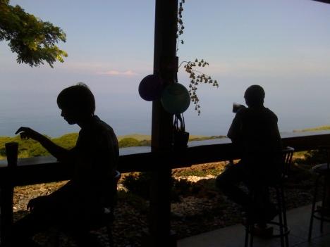 The coffee bar at Kona Joe's