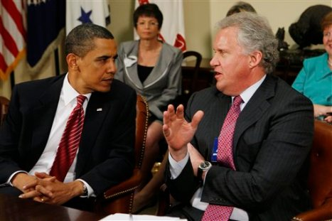 President Barack Obama and GE Chairman Jeffrey Immelt