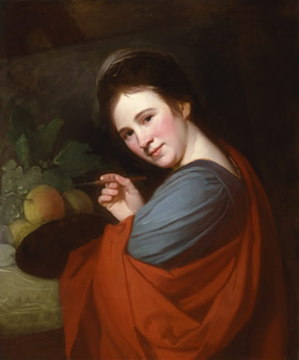 Portrait of Mary Moser by George Romney
